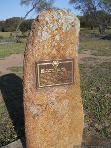 Holland Track plaque at Emu Rocks