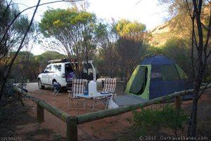 Our camp at Peak Charles