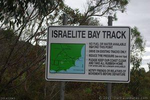 Israelite Bay Track information sign