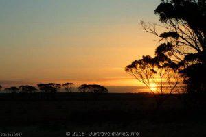 Sunset near Wagin