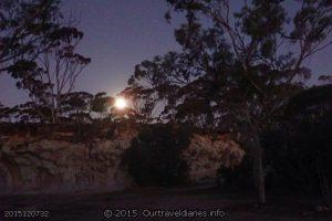 Moonrise at the Breakaways