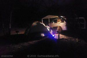 Our bush camp south west of Twenty Five Mile Rock