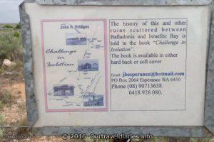 Sign at the old Balladonia Telegraph Station.