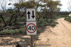 Googs Track 40 kph speed limit