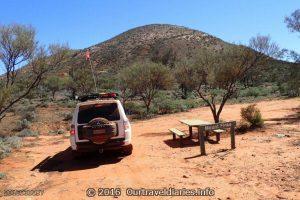 The Pajero at Mount Finke, Googs Track, South Australia