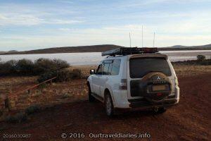 The Pajero at Lake Gairdner, South Australia