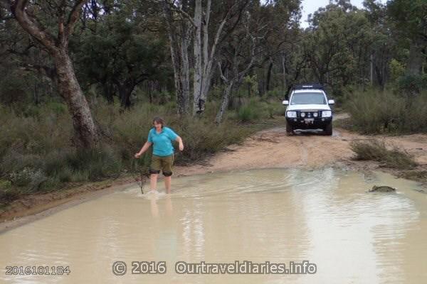 Bog Hole tester in action