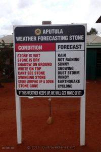 Weather Forecasting in Aputula (Finke) NT.