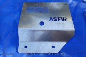 The Asfir rear air con skid plate