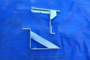 The brackets for Asfir rear air con skid plate