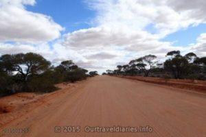 Road north of Kingoonya, South Australia