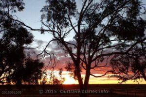 Sunset at Kingoonya, South Australia