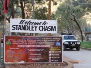Entering Standley Chasm Park