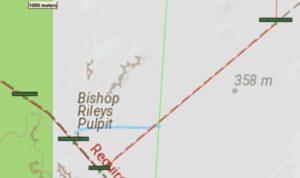 Hanns Track, Waypoints around Bishop Rileys Pulpit