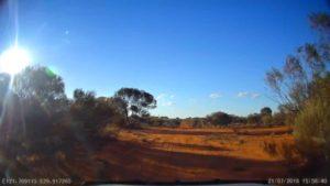 Crossroads at Pianto Road and Donkey Rocks Road, Western Australia.